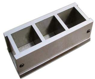 - Triple Prism Cement Mould (50 * 50 * 50 mm)