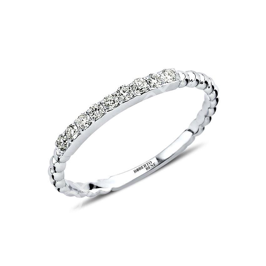 0.16 Carat F Color Diamond Half Ring   Roberto Bene