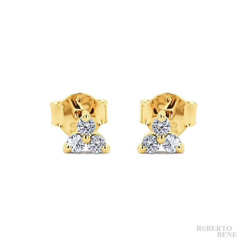 0.24 Carat Tria Diamond Earrings | Roberto Bene