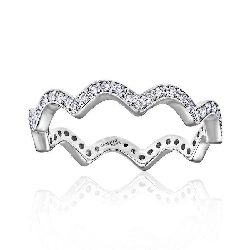 0.29 Carat G Color VS Clarity Special Tambour Diamond Wedding Ring | Roberto Bene