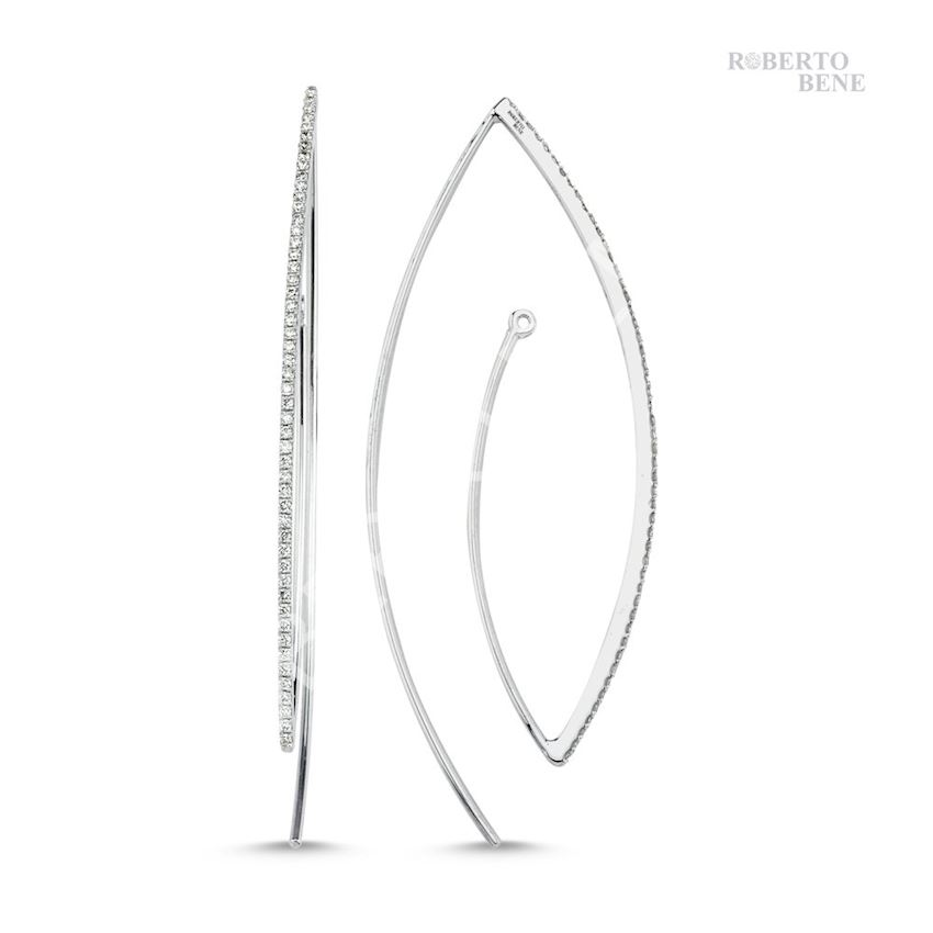 0.52 Carat Diamond Hoop Earrings | Roberto Bene
