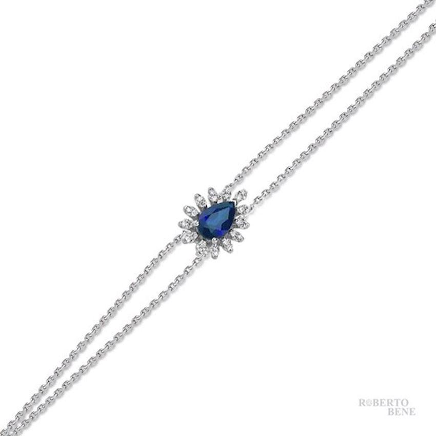 0.54 Carat Sapphire Diamond Bracelet | Roberto Bene