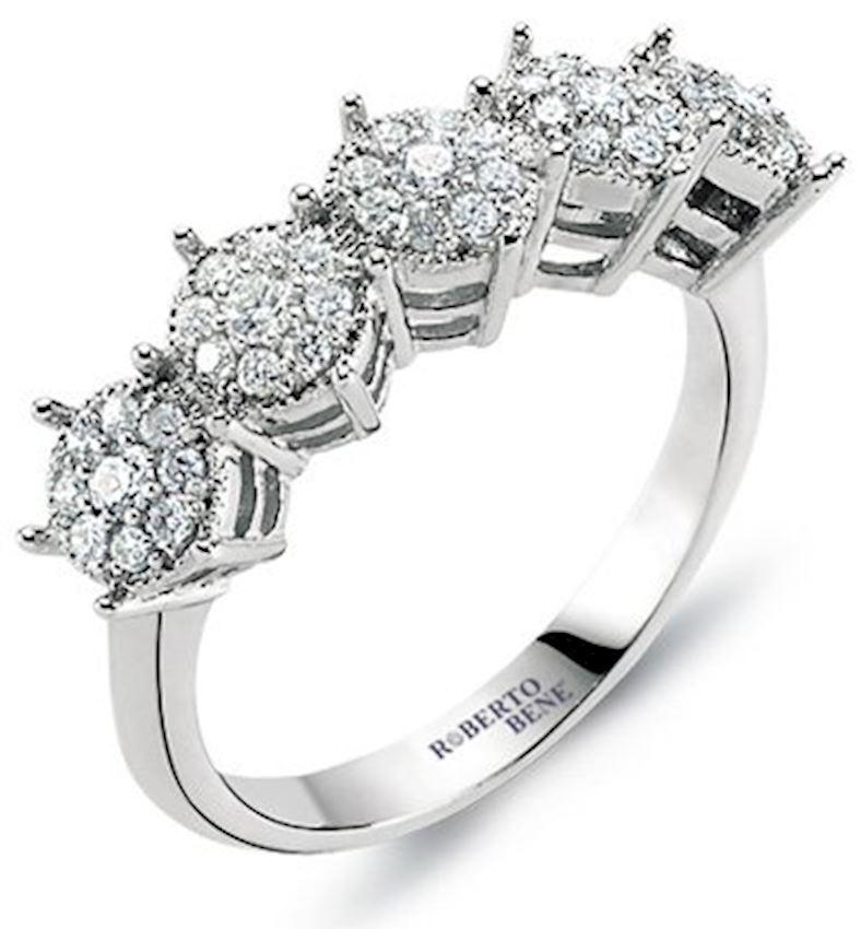 0.60 Carat Five Stones Diamond Effect Ring | Roberto Bene