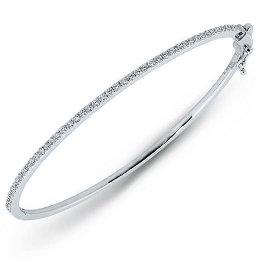 0.86 Carat Clamp Design Diamond Bracelet | Roberto Bene