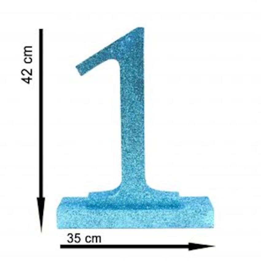 1 Figure Styrofoam Ornament Blue 42cm Event & Party Supplies