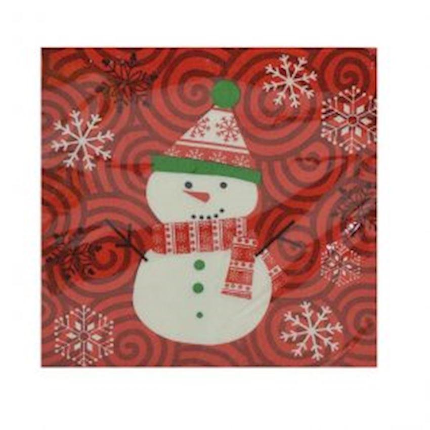 10 Pcs Snowman Christmas Napkin Assortment Christmas Decoration Supplies