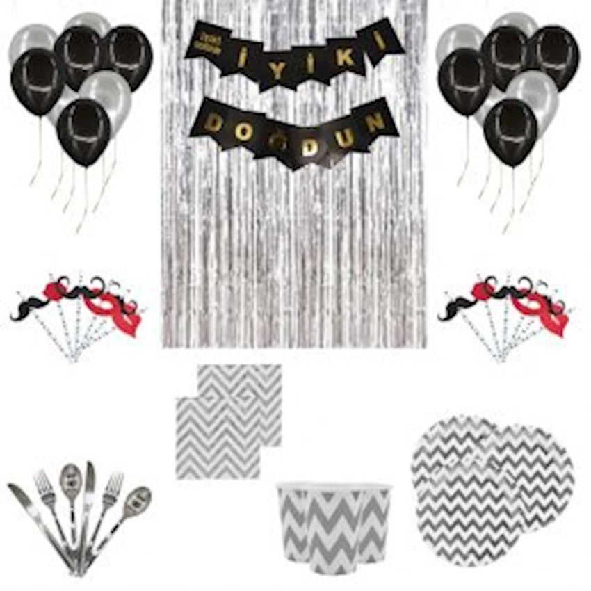 10 Person Adult Party Set Silver 150 Pieces Event & Party Supplies