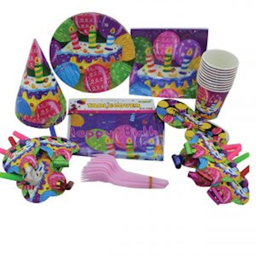 10 Person Birthday Party Set Girl Child Event & Party Supplies