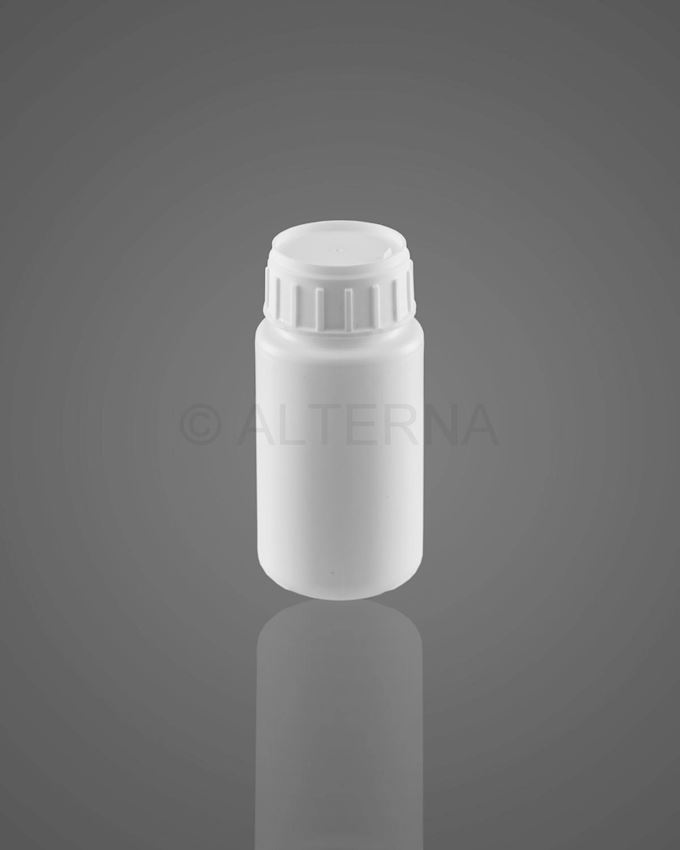100 ml HDPE Bottle with Alu. Seal Vented Cap
