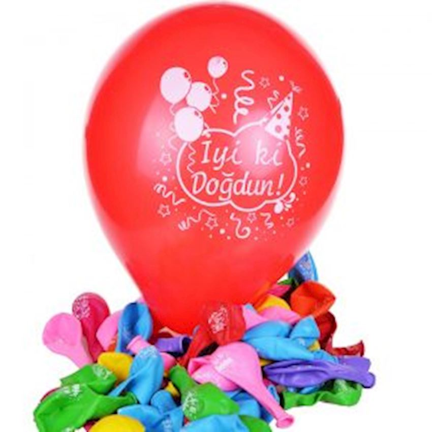 100pcs Happy Birthday Colorful Balloon Event & Party Supplies