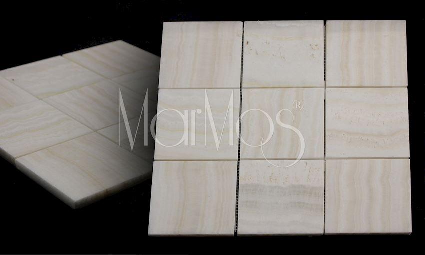 10cm x 10cm Akdag  Onix Marble Stone