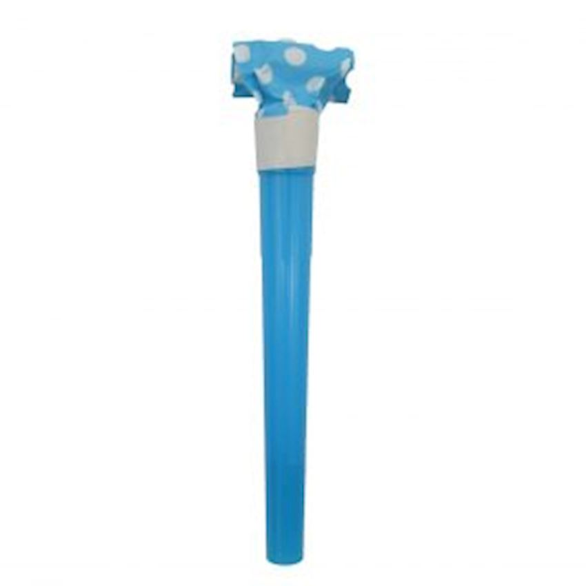 10pcs Polka Dot Boiled Tongue Whistle Blue Event & Party Supplies