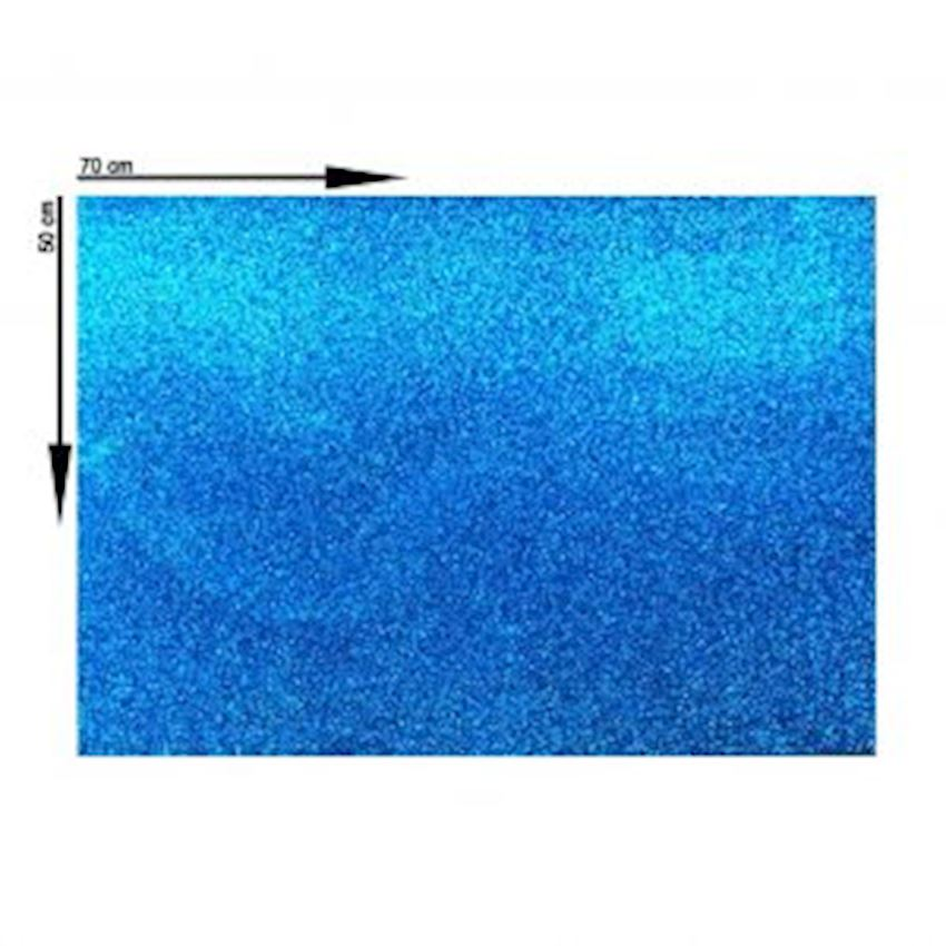 10s Silvery Eva Material Blue 50X70cm Event & Party Supplies