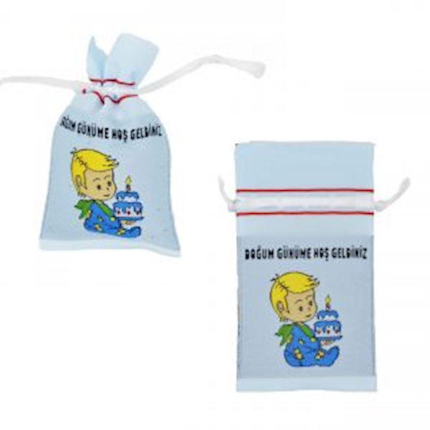 10th Birthday Printed Pouch Blue 8x15cm Event & Party Supplies