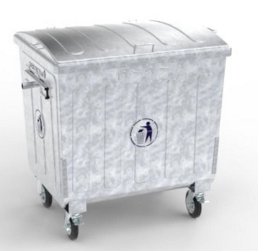 1100 lt metal hot galvanized garbage bin