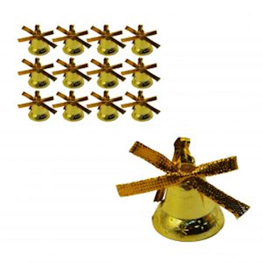 12 Bell Christmas Tree Ornament Gold Christmas Decoration Supplies