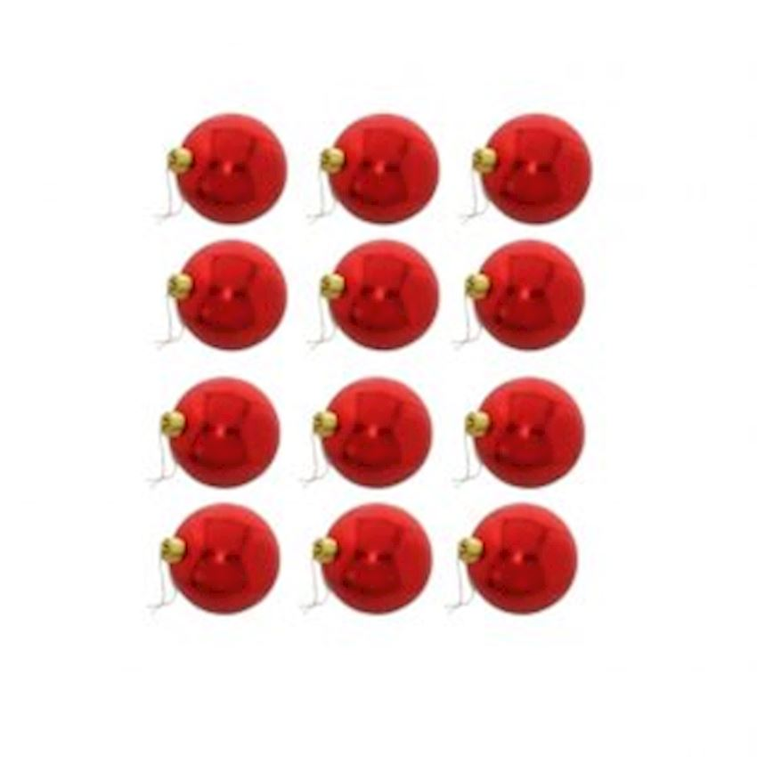 12 Cic Top Christmas Tree Decoration Red 4cm Christmas Decoration Supplies