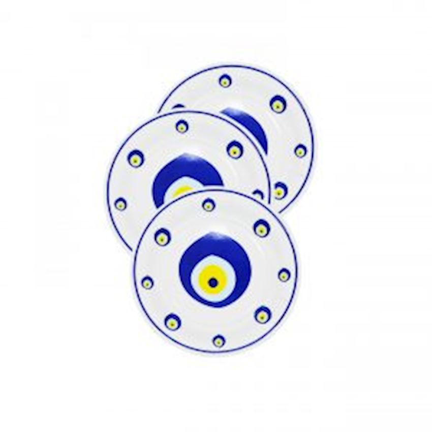 12 Disposable Circumcision Plate with Evil Eye Event & Party Supplies