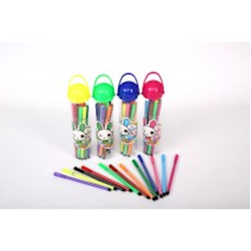 12 Pcs Felt Pen with Hat Paint Brushes
