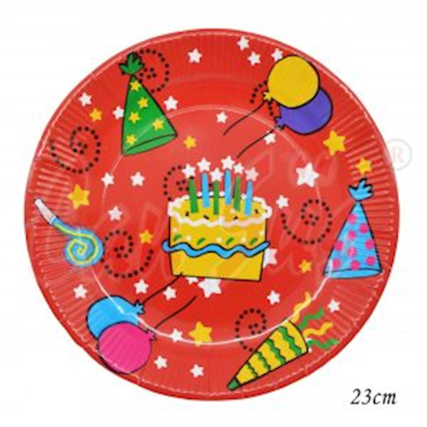 12 Waxed Cake Round Party Plate 23cm Event & Party Supplies