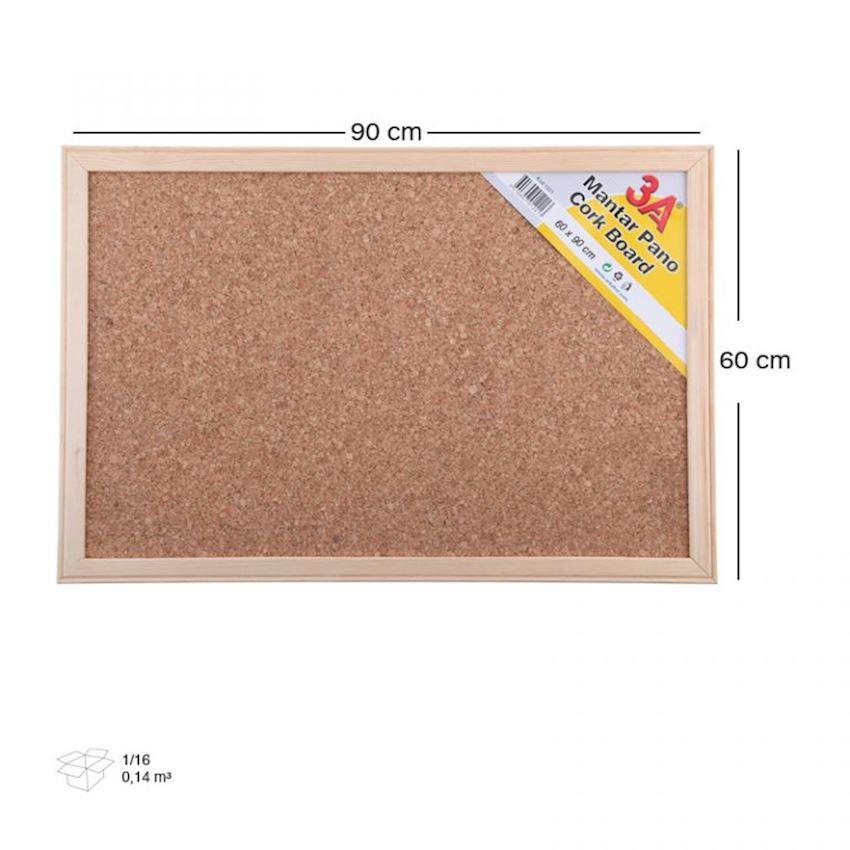 1224 3A Cork Board 60×90 cm - Bulletin Board
