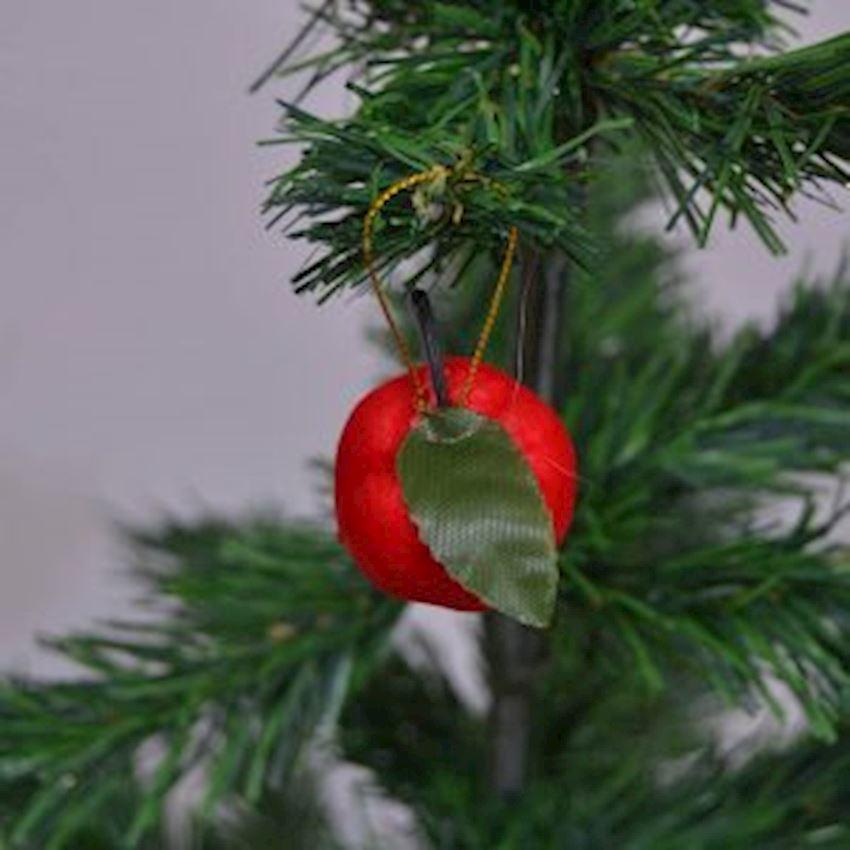 12li Apple Shaped Christmas Tree Ornament Christmas Decoration Supplies