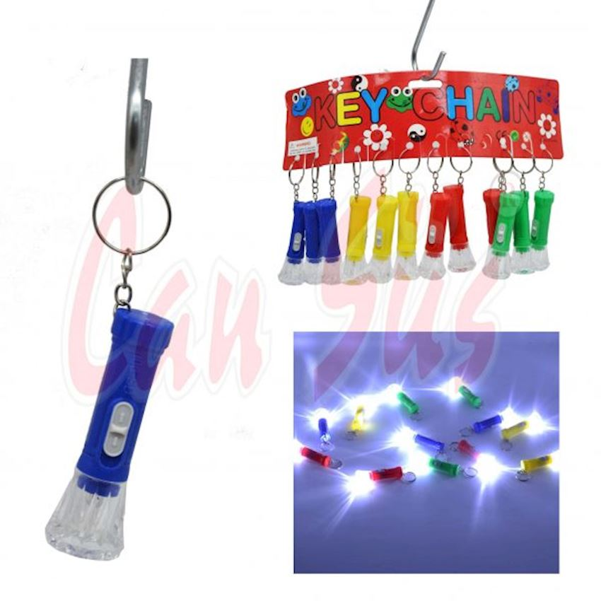 12li Mini Flashlight Keychain Event & Party Supplies