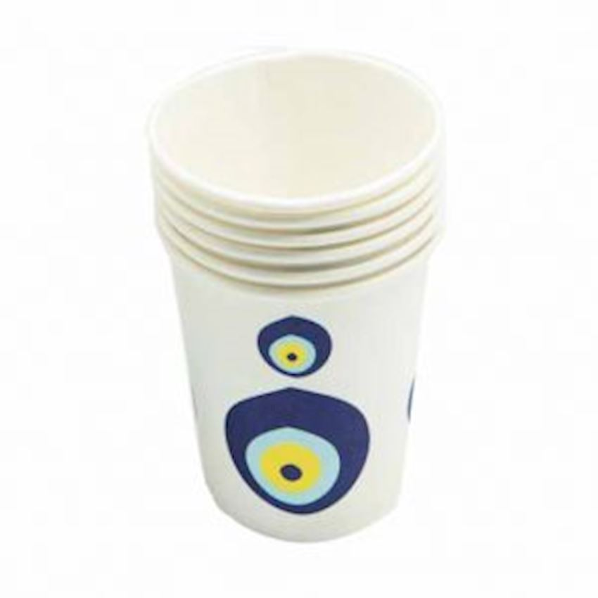 12pcs Disposable Evil Eye Beaded Cardboard Cup Event & Party Supplies