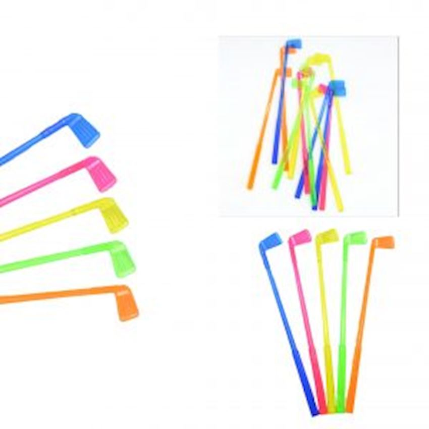12pcs Golf Stick Shaped Cocktail Mixer 15cm Event & Party Supplies