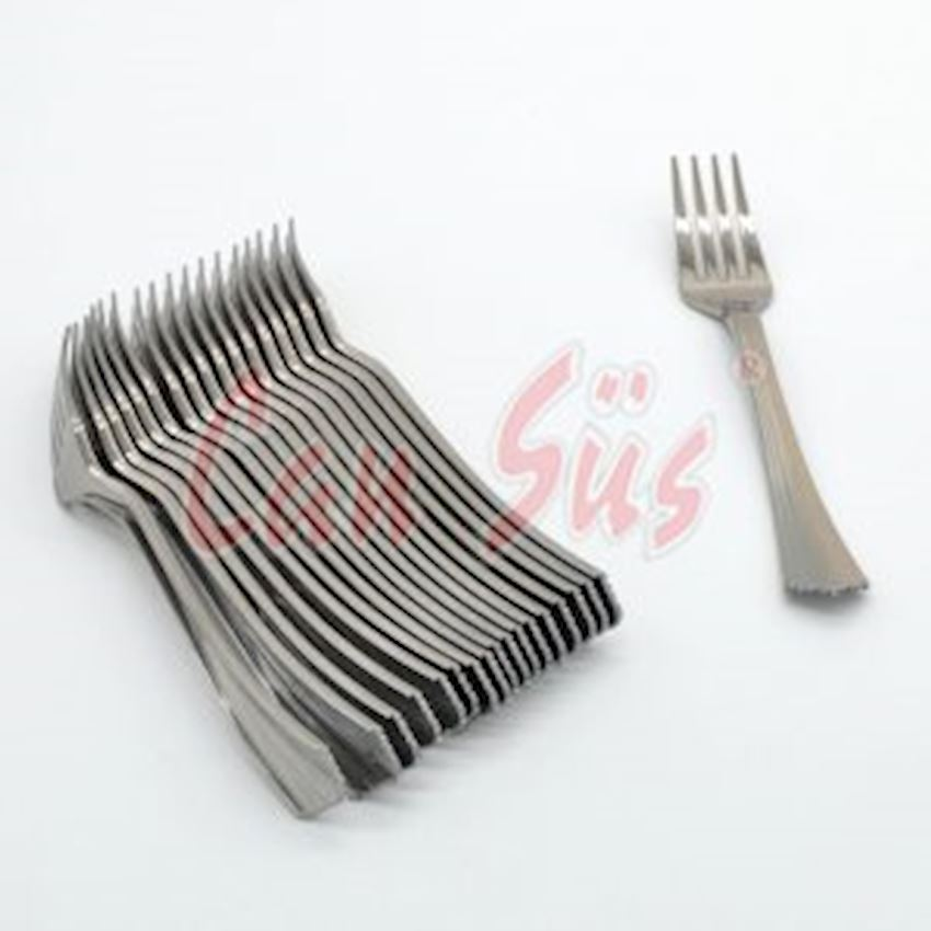 18 Pcs Use Horse Luxury Plastic Cutlery Silver Event & Party Supplies