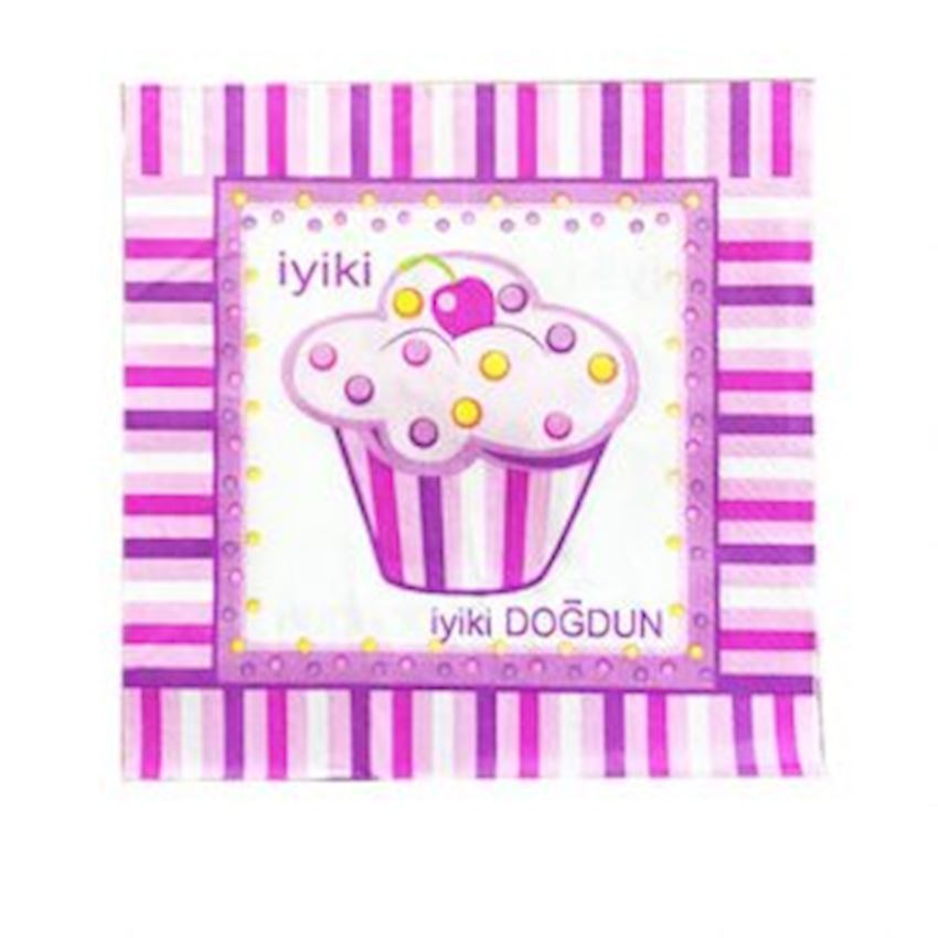 20 Happy Birthday Written Party Napkin Pink Event & Party Supplies