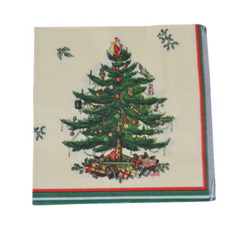 20 pcs Christmas Napkin with Pine Tree Assortment Christmas Decoration Supplies