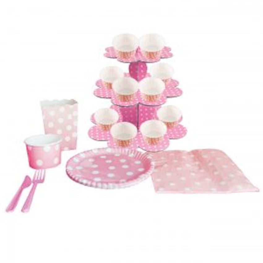 20 Seater Party Set Pink 210 Pieces Event & Party Supplies