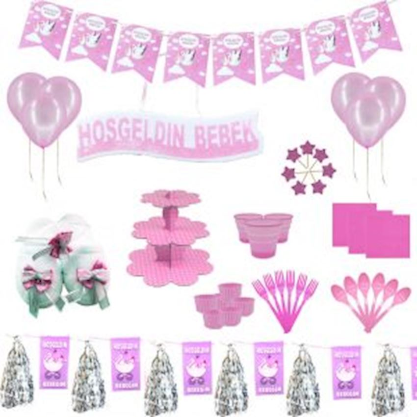 20 Seater Welcome Baby Lohusa Set Pink 240 Pieces Event & Party Supplies