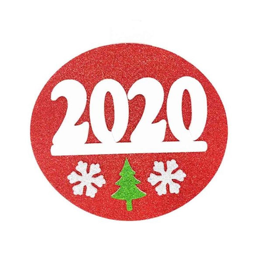 2020 Written Foam Styrofoam Door Wall Ornament 25cm Red Christmas Decoration Supplies