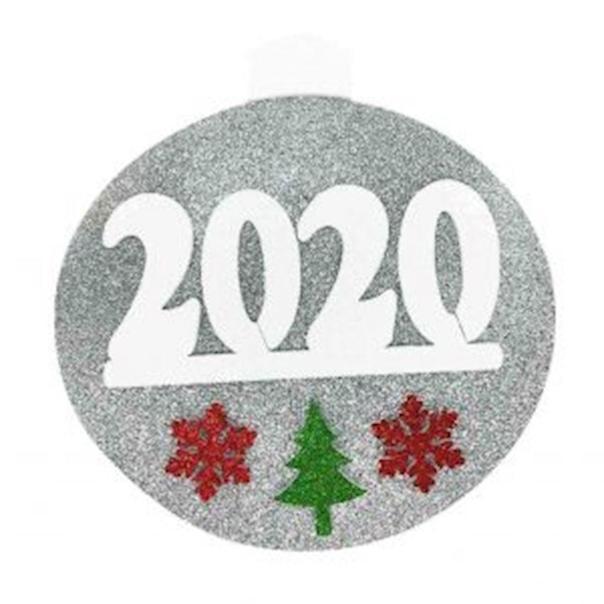 2020 Written Foam Styrofoam Door Wall Ornament 50cm Silver Christmas Decoration Supplies