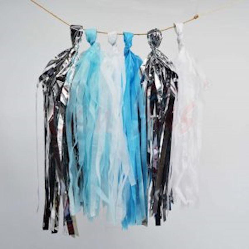 20li Paper Pompon Pendant Ornament Blue 4mt Event & Party Supplies