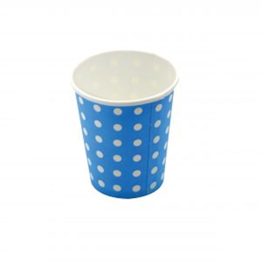 20li Polka Dot Cardboard Glass Blue Event & Party Supplies