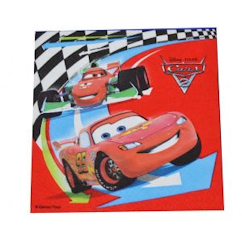 20s Cars Lightning Mcqueen Printed Paper Napkin Event & Party Supplies