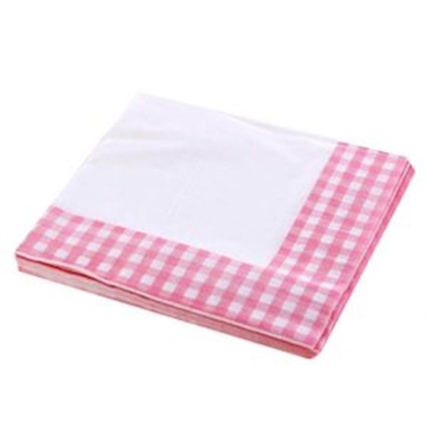 20s Checkered Party Napkin Pink Event & Party Supplies