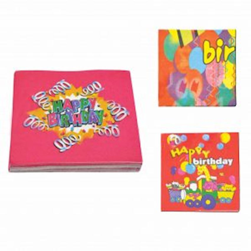20s Happy Birthday Written Paper Napkin Event & Party Supplies
