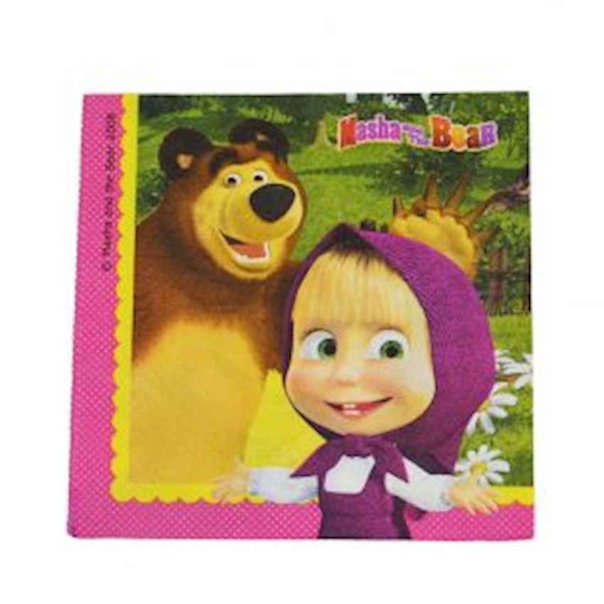 20s Masha and The Bear Disposable Paper Napkin Event & Party Supplies