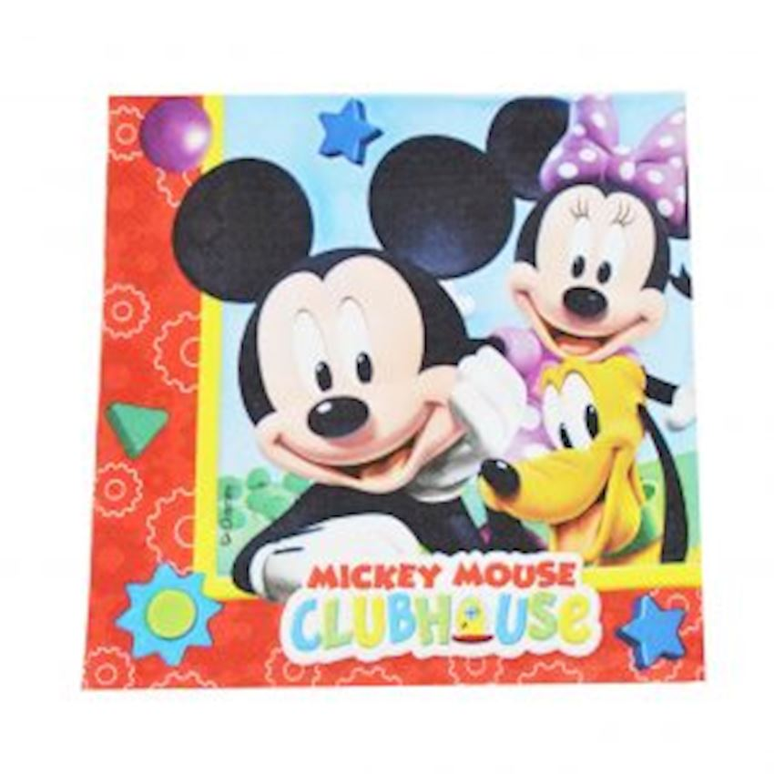 20s Mickey Mouse Printed Paper Napkin Event & Party Supplies