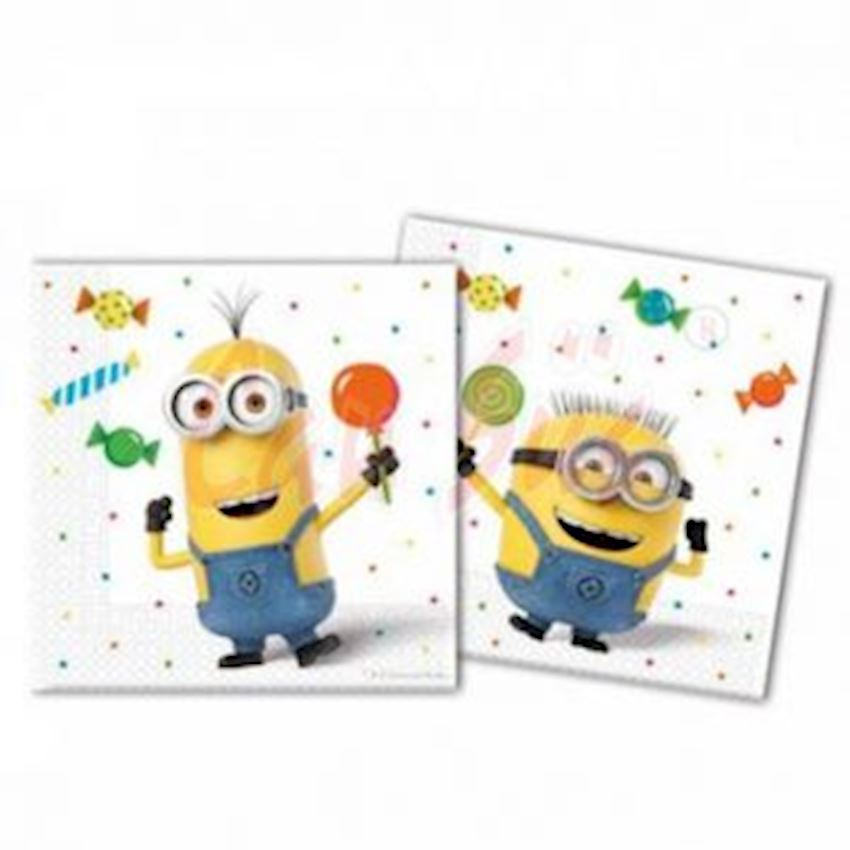 20s Minions Printed Paper Napkins Event & Party Supplies
