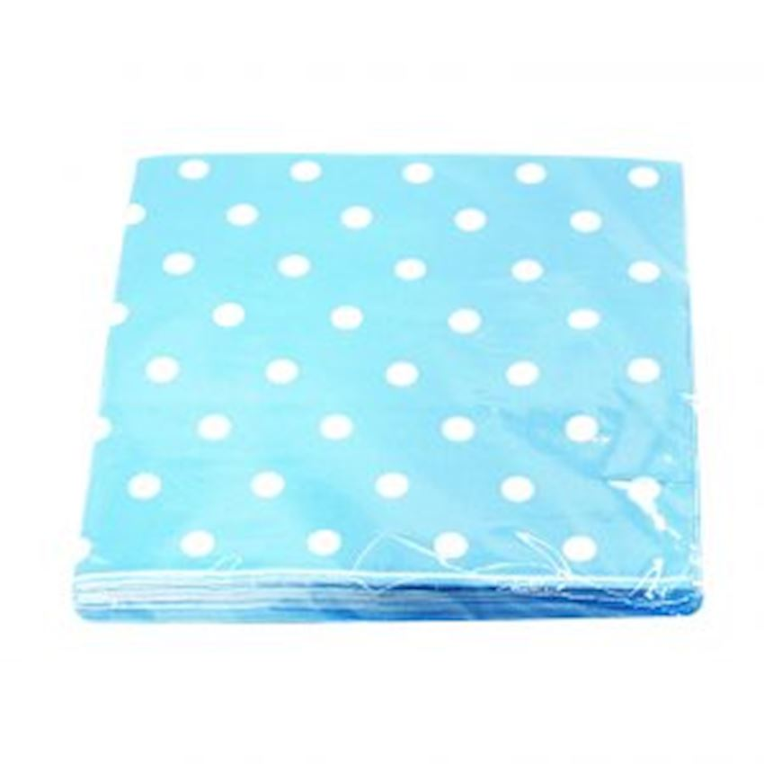 20s Polka Dot Party Napkin Blue Event & Party Supplies