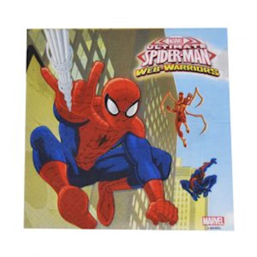 20s Spiderman Spiderman Printed Paper Napkin Event & Party Supplies