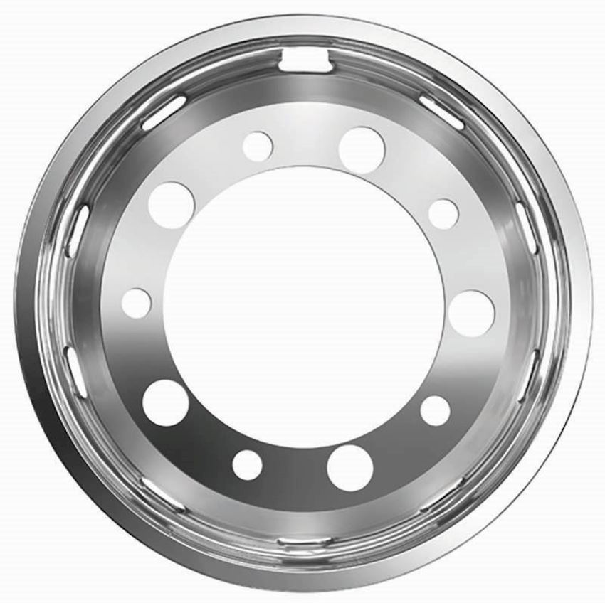 "22,5"" BUS SIMULATOR STAINLESS WHEEL COVER FRONT"