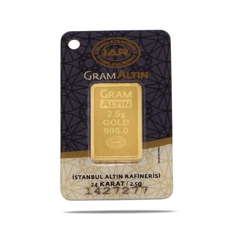 2.5 gr 24 Carat Gram Ingot Gold