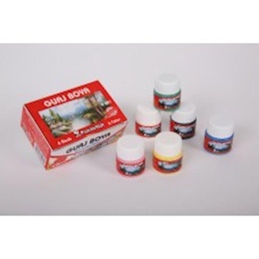 25gr.6'li Bottle Gouache Paint Paint Brushes