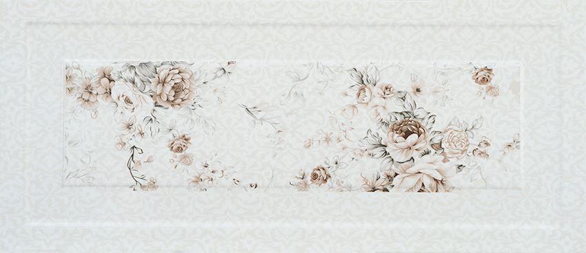 26×60 Rose Decor Beige Ceramics